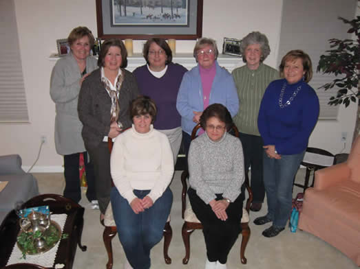2013 Regina Alumnae Board. Front row: Joan Ward Andersen '76, Marisa Warrix '73; Back row: Peggy Murphy Dudash '74, Mary Staiger Murphy '74, Brenda Tedeschi Bodnar '77, Sr. Kay O'Malley, Kate Brown Petrovic '68, Irene Stergar Robards '74